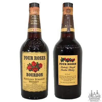 Four Roses Kentucky Straight Bourbon Whiskey 6 Years Old Anni '70 75 Cl 43°