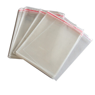 100 x New Resealable Clear Plastic Storage Sleeves For Regular CD Cases ECUS