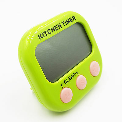 Large LCD Digital Timer Loud Alarm Magnetic Kitchen Cooking Count-Down Up new
