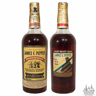 James E.pepper Kentucky Straight Bourbon Whiskey 6 Years Old Anni '50/'60 75 Cl