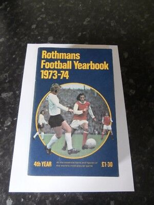 Rothmans Football Yearbook 1973-74 (4th Year) Softback