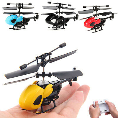 Mini 2 Channel Helicopter Radio Remote Control Aircraft Micro RC Drone Kids Toy