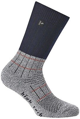 (27-30, Blue Denim) - Rohner Fibre High Tech Junior Trekking Socks. Huge Saving