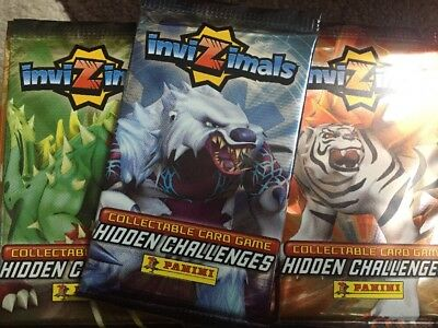 Panini InviZimals Collectable Trading Cards 44 Sealed Packets