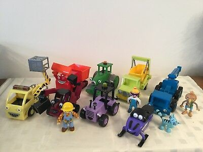 Bob The Builder Vehicles X 8 Plus 4 Figures (2)