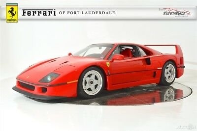 1991 Ferrari F40 F40 Classiche Certified Inspected Maintained Serviced Low Miles Impeccable Condition Rare Investment