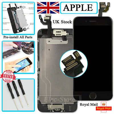 """Black Screen For iPhone 6 4.7"""" Replacement Digitizer LCD Touch With Home Button"""