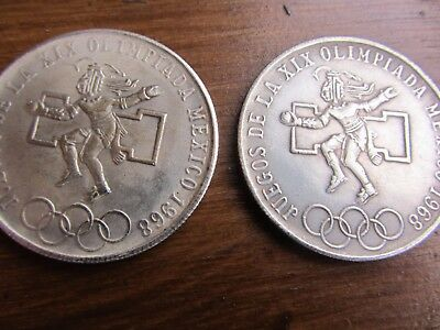 Coin /medal  X 2 Olympia Mexico  1968
