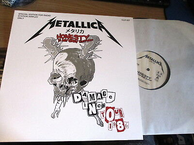 Lp Vinyl Record-Metallica-Damage Inc 1986-Radio Only-Clr007-Mint/unplayed-Metal