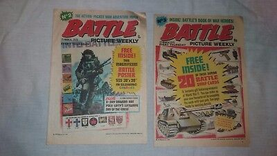 BATTLE PICTURE WEEKLY UK Comic. No 2 and No3