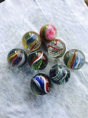 Antique Handmade Swirl Marbles