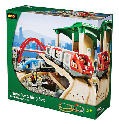 BRIO 33512 Travel Switching Set Wooden Railway Age 3-5 years / 42 pcs New in Box