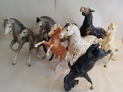 Lot of 8: Vintage Breyer Horses Traditional & Classic (Good/Great Condition)