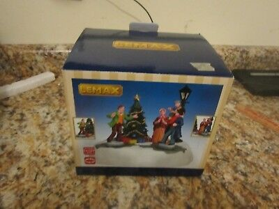 christmas village lemax table accent musical tree people
