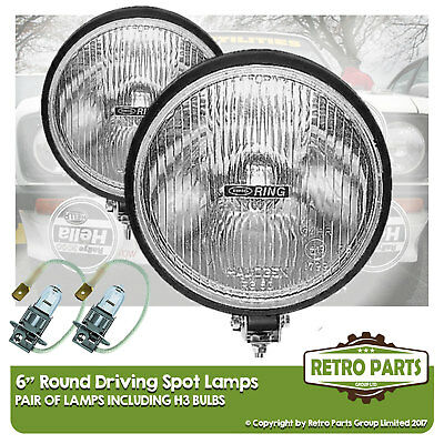 "6"" Roung Driving Spot Lamps for Nissan Leaf. Lights Main Beam Extra"