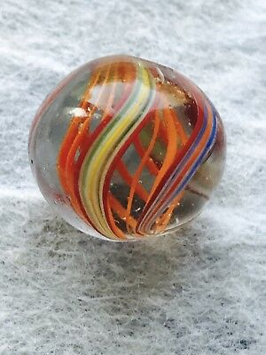 Antique Handmade Swirl Marble