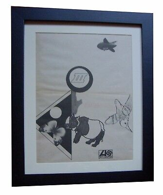 LED ZEPPELIN+3+III+Immigrant+POSTER+AD+RARE ORIGINAL 1970+FRAMED+FAST WORLD SHIP