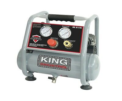 King Canada Tools KC-1410A ULTRA QUIET OIL-FREE AIR COMPRESSOR 1 GALLON TANK