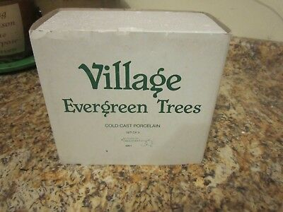 christmas village department 56 village evergreen trees