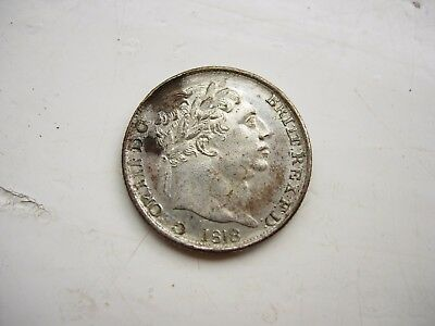 1818 sixpence George 3rd Contemporary forgery