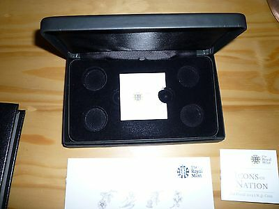Empty Box etc for Royal Mint set 2013 Silver Floral Proof  £1 coins 4 coin set