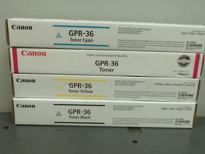 New Genuine Canon GPR-36 Full Color Toner Set