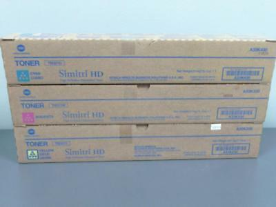 3 New Genuine Konica Minolta TN321C M Y  Simitri HD Toner Cartridges