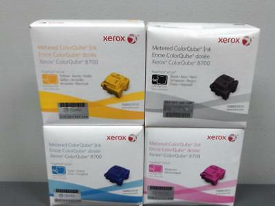 New Genuine XEROX Metered ColorQube 8700 Ink Set CMYK