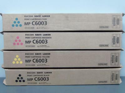 New Genuine RICOH SAVIN LANIER MP C6003 Print Cartridge Set