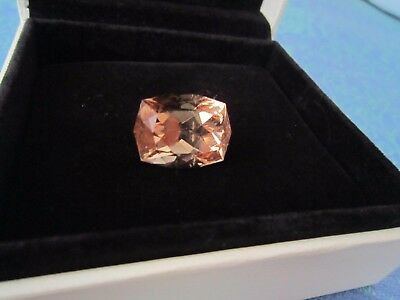 41,02 Ct Natural Untreated Cushion Certified Orangy Brown Imperial Topaz Ring