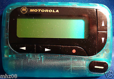 Motorola Light Blue Advisor Gold  AlphaPager 900 mhz Flex