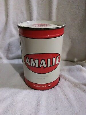 Vintage Amalie Wheel Bearing Grease 5 lb. Can  1955 new never opened