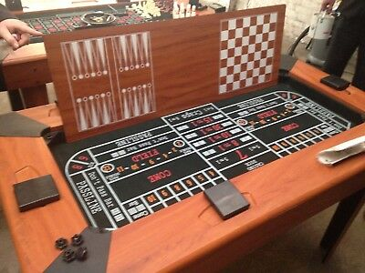 Roulette Table 5 in 1 Games Table cards chess droughts black jack