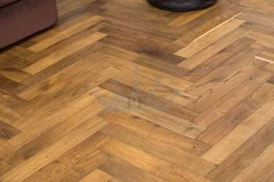 Parquet Engineered Oak 18mm x 90mm Smoked Brushed Natural Oiled Quality Wood