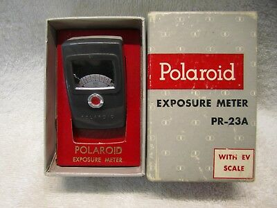 Vintage Polaroid Exposure Light Meter Model PR-23A with EV scale  Made By GE