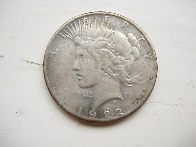 USA 1922 S  Peace Dollar