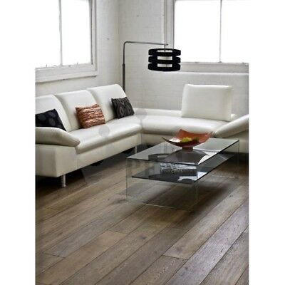 Engineered Smoked Antique Oak 20mm x 190mm Brushed Matte Lacquered Quality Wood
