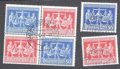 Germany Hanover Fair block. SG 955/6 Used. First day of issue.