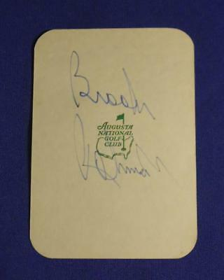 Brooks Robinson Signed Early Augusta National Masters Tournament Score Card