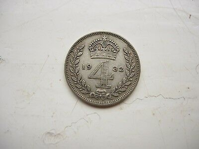 1932 maundy four pence groat George V 5th