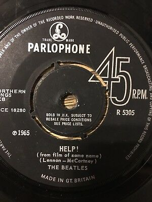 Beatles Help UK 45 R5305
