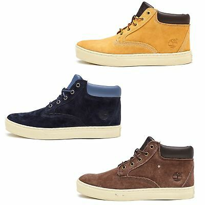 Timberland Dauset Ankle Chukka Suede Boots in Brown Beige & Blue