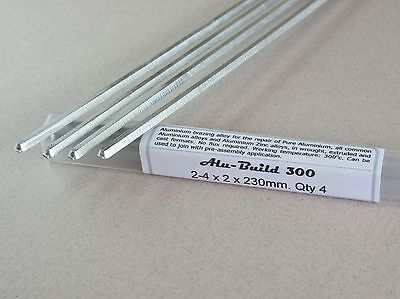 ALUMINIUM BRAZING SOLDER  Ultra low 300c  Ideal for repair and joining - 4 rods