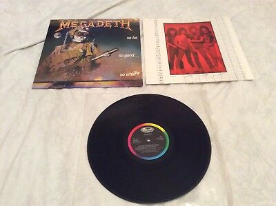 "Megadeth ""So Far, So Good...So What!"" original 1988 Lp and inner. Near Mint."