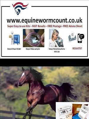 Horse Faecal Equine Egg Count Kit, Worm count, Worming kit FREE RETURN POSTAGE