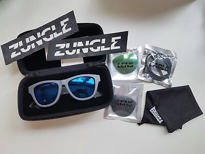 Zungle Panther sunglasses w/ Bluetooth, Gray w/ 2 extra lenses
