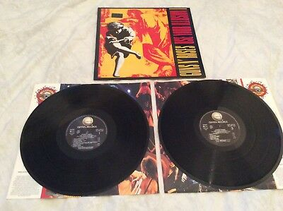 "Guns n Roses ""Use Your Illusion 1"" original 1991 2Lp and inners. Near Mint."