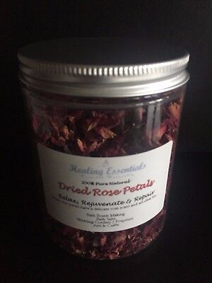 Red Rose Petals - 30g High Quality Cosmetic Grade- Confetti / Crafts/ Bath Bombs