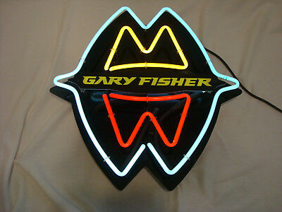 NEON-SIGN-GARY-FISHER-BICYCLES-BIKE-STORE-SHOP-Advertising-Authorized Dealer