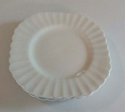 J & G MEAKIN ENGLAND - CLASSIC WHITE Set of 4 Salad Plates